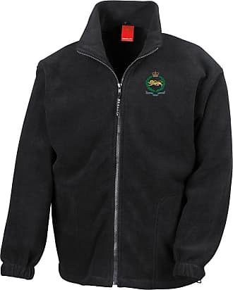 Military Online The Kings Own Royal Border Regiment Embroidered Logo - Official British Army Full Zip Heavyweight Fleece Jacket