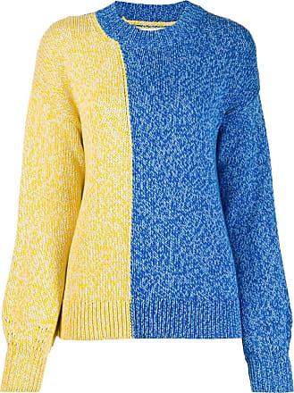 Chinti and Parker Suéter de tricô bicolor azul