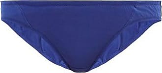 Rossell England Sheer Angled Low-rise Cotton Briefs - Womens - Blue