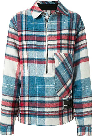 We11done zipped checked jacket - Blue