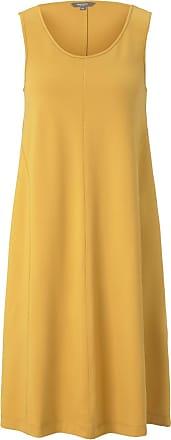 Tom Tailor Ärmelloses Jersey-Kleid in A-Linie, Damen, Golden Corn, Größe: 36