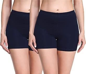 Merry Style Womens Shorts 2Pack MS10-283(2Pack Navy Blue/Navy Blue,L)