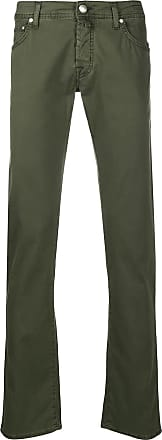 Jacob Cohen Military green stretch cotton trousers