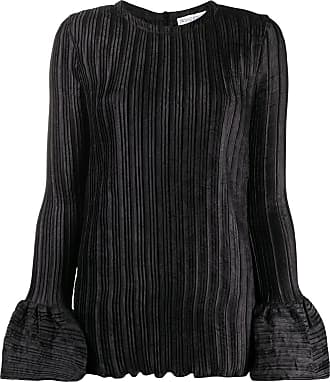 J.W.Anderson bell sleeve ribbed blouse - Preto