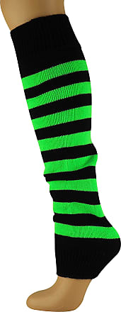 MySocks Leg Warmers Striped Neon Green Black