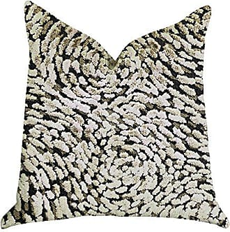 Plutus Brands Mulberry Lasso Double Sided Luxury Throw Pillow 24 x 24 Beige/Green