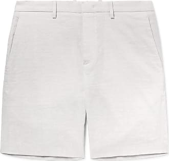 Theory Curtis Slim-fit Tapered Stretch Linen-blend Shorts - Beige