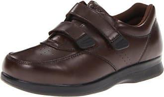 Propét Propet Mens Vista Strap Shoe,Brown,10 3E US