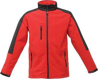 Regatta RG157 Woven Mens Hydroforce 3-Layer Softshell Jacket, Medium, Classic Red/Black
