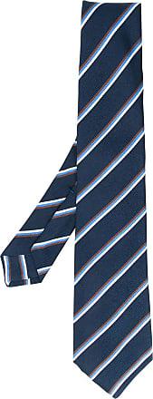 Kiton Gravata com estampa de listras - Azul