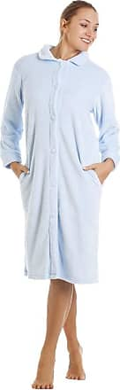 Camille Womens Various Button Housecoats 18/20 Blue