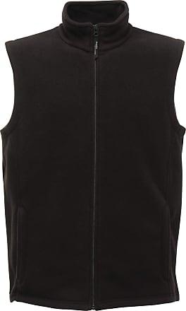 Regatta Mens Microfleece Sleeveless Bodywarmer Zip Up Gilet Jacket Black Size 2XL