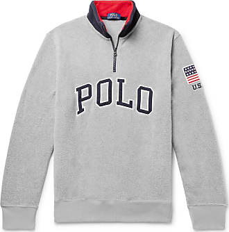 Polo Ralph Lauren Logo-appliquéd Fleece Half-zip Sweatshirt - Gray