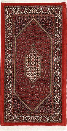 Nain Trading 135x73 Tappeto Orientale Bidjar Corridore Grigio Scuro/Ruggine (Persia/Iran, Lana / Seta, Annodato a mano)