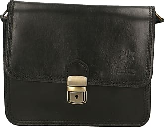 Chicca Borse Aren - Woman Shoulder Bag in Genuine Leather Made in Italy - 20x17x8 Cm