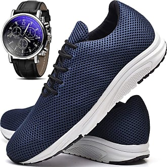 Juilli Kit Tênis Com Relógio Masculino JUILLI R1108DB Tamanho:41;cor:Azul;gênero:Masculino