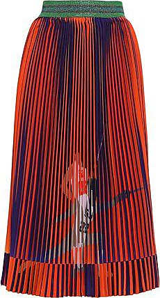 5752b1147b Stella Jean Stella Jean Woman Pleated Printed Woven Skirt Orange Size 42