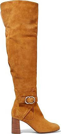 cef2b34b7ff Chloé Chloé Woman Suede Over-the-knee Boots Tan Size 38.5