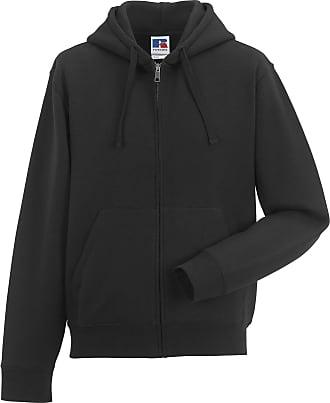 Russell Athletic Russell Mens Authentic Full Zip Hooded Sweatshirt / Hoodie (2XL) (Black)