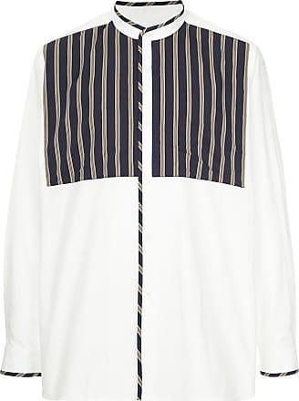 Ports V Camisa com gola mandarim - Branco
