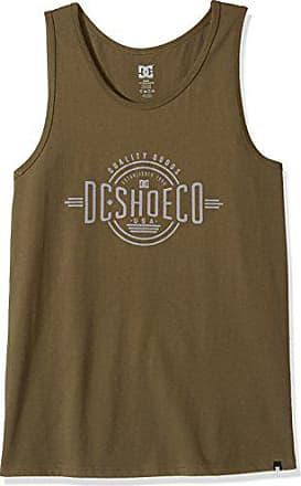 DC Mens Graphic Tank Top T-Shirt, Bulls Eye Tankdark Olive, 2XL