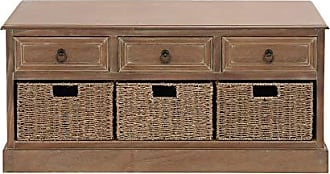 UMA Enterprises Inc. Deco 79 Wood 3-Basket Chest, 40 by 20-Inch