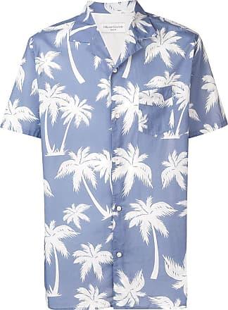 Officine Generale palm tree print shirt - Azul