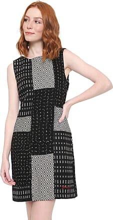 Desigual Vestido Desigual Curto Olas Preto/Branco