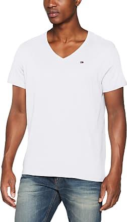 White Tommy Jeans Mens Original V-Neck Jersey T-Shirt