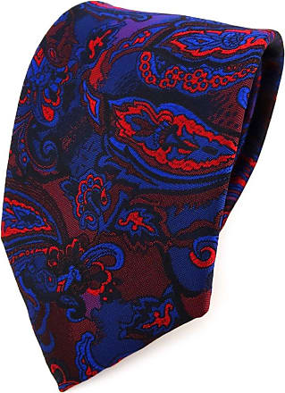 TigerTie Designer tie necktie blue red wine red lila black Paisley patterned