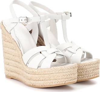 78ed5004cd73 Saint Laurent Espadrille wedge leather sandals