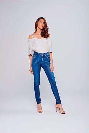 Damyller Calça Jeans Skinny Cintura Alta Feminina Tam: 38 / Cor: BLUE