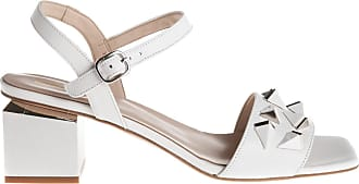Jeannot sandalo tacco grosso, 35 / bianco