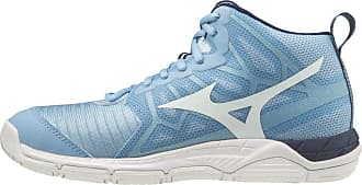 Mizuno Womens Supersonic 2 Mid Volleyball Shoe, Dellarblue White 2768c, 5.5 UK