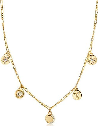 Sif Jakobs Jewellery Necklace Portofino - 18k gold plated with white zirconia