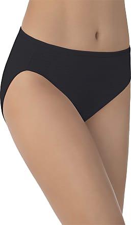 Vanity Fair Womens Illumination Hi Cut Panty 13108 Briefs, Midnight Black, Medium