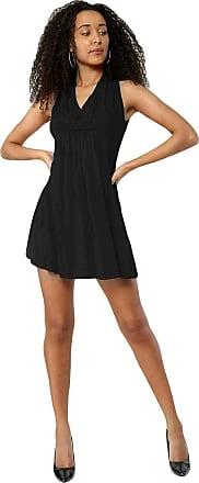 True Face Womens Beach Wear Plain Ladies Dress Sleeveless Cover Up Summer Midi Short Kaftan Top T52 Black UK 14