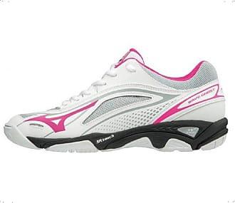 e8e8a02340cb Mizuno Womens Wave Ghost Low-Top Sneakers, Multicolour (White/Pinkglo/Black