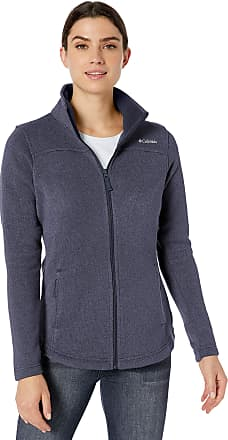 Columbia Womens Canyon Point Sweater Fleece Full Zip Jacket, Dark Nocturnal, XL