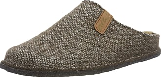 Ara Mens Cosy 1529916 Open Back Slippers, Brown 07, 6.5 UK