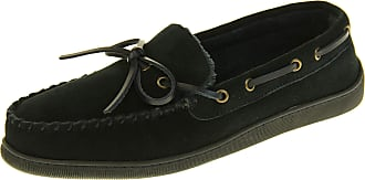 Northwest Territory Mens Leather Moccasin Warm Soft Winter Slippers Navy Blue UK 11