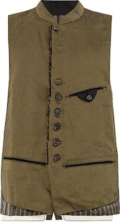 Ziggy Chen distressed waistcoat - Brown