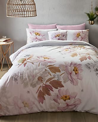 Ted Baker Butterscotch Double Cotton Duvet Cover in Light Pink BRYONIA, Home