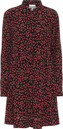 Ganni Hemdblusenkleid aus Crêpe