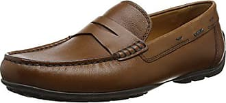 Geox Mens Moner 2 FIT 1 Moccasin, Cognac, 43.5 M EU (10.5 US)
