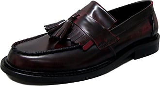 Ikon Original Mens Selecta Tassle Slip On Loafer Shoes Bordo 10 UK/44 EU Burgundy