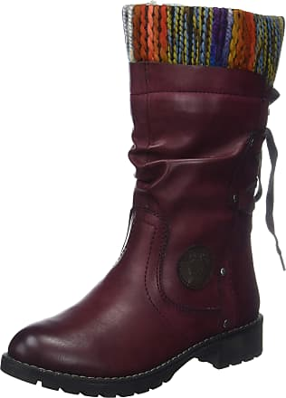 Jana Womens 8-8-26438-21 Ankle Boots, Red (Bordeaux 549), 5 UK