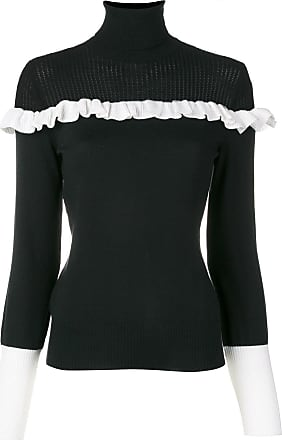 Moschino contrast frill jumper - Black
