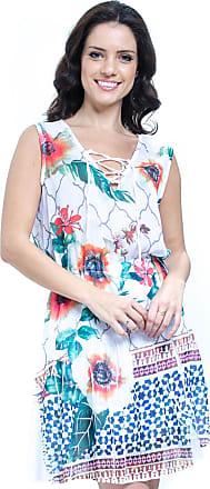 ab8fe980b 101 Resort Wear Vestido Evasê Curto 101 Resort Wear Estampado Floral Laranja