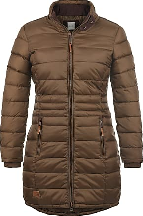 Blend Carlotta Womens Quilted Coat Parka Outdoor Jacket with Funnel Neck, Size:M, Colour:Brown (20021)